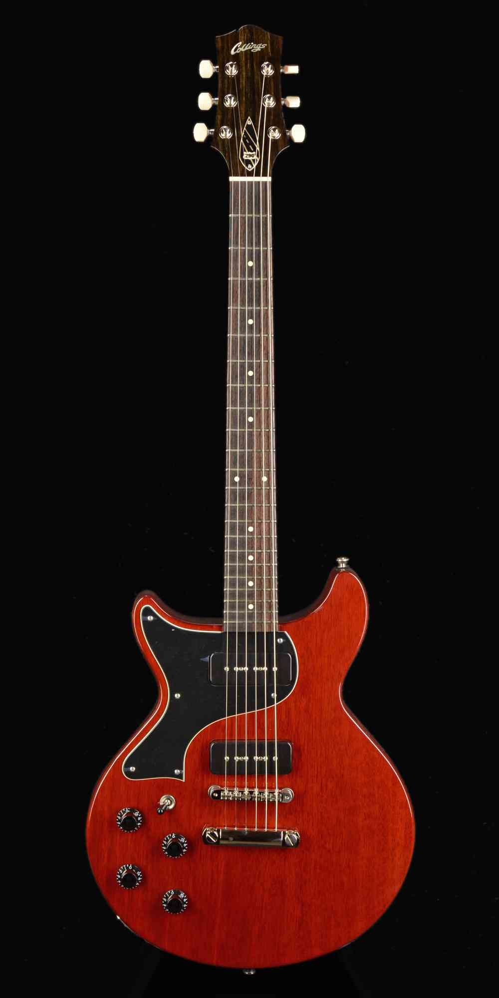 Front view of Collings 290DC 2019 Crimson