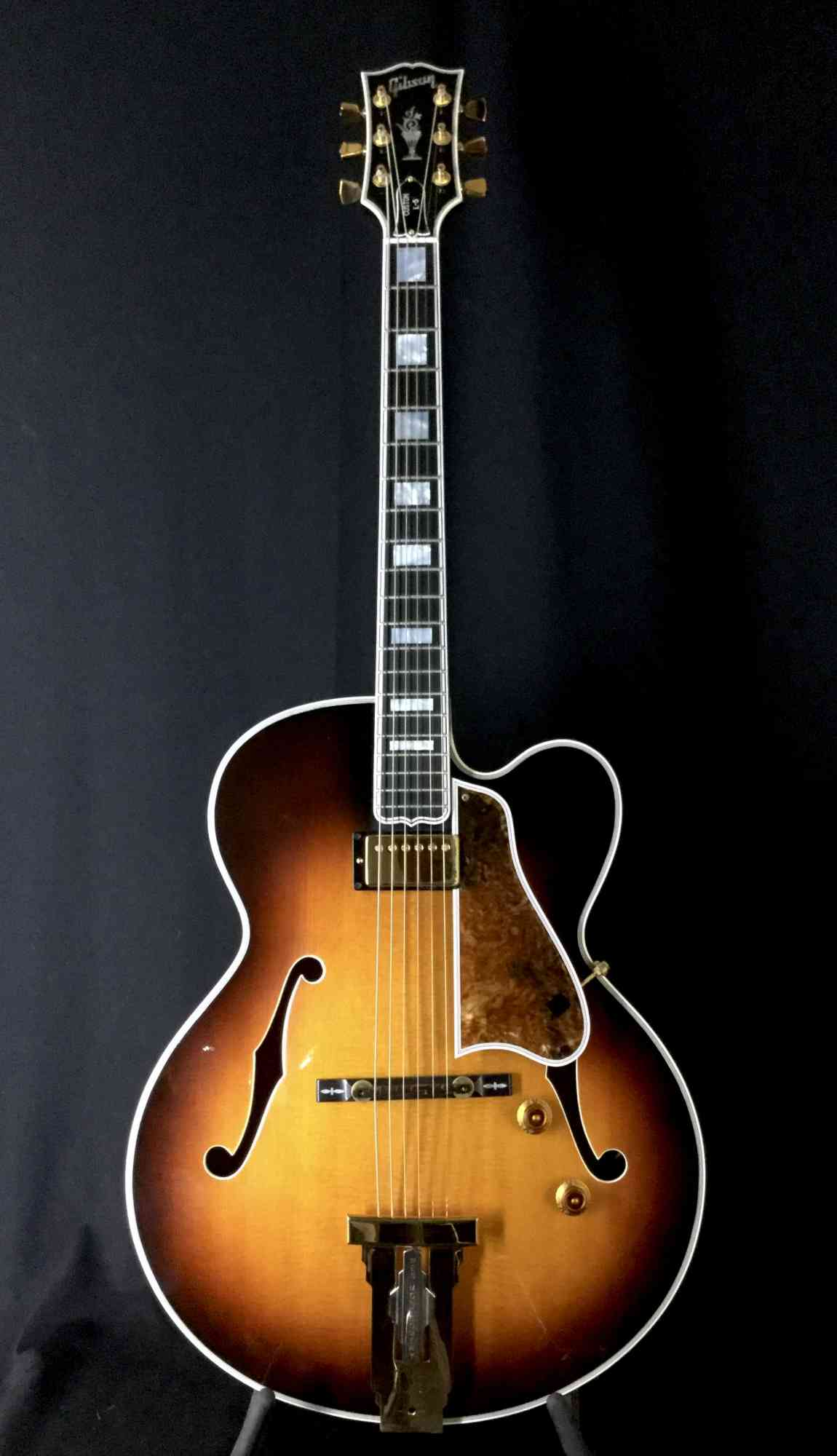 Gibson L5 Wes Montgomery 1997 Sunburst. Click to enlarge