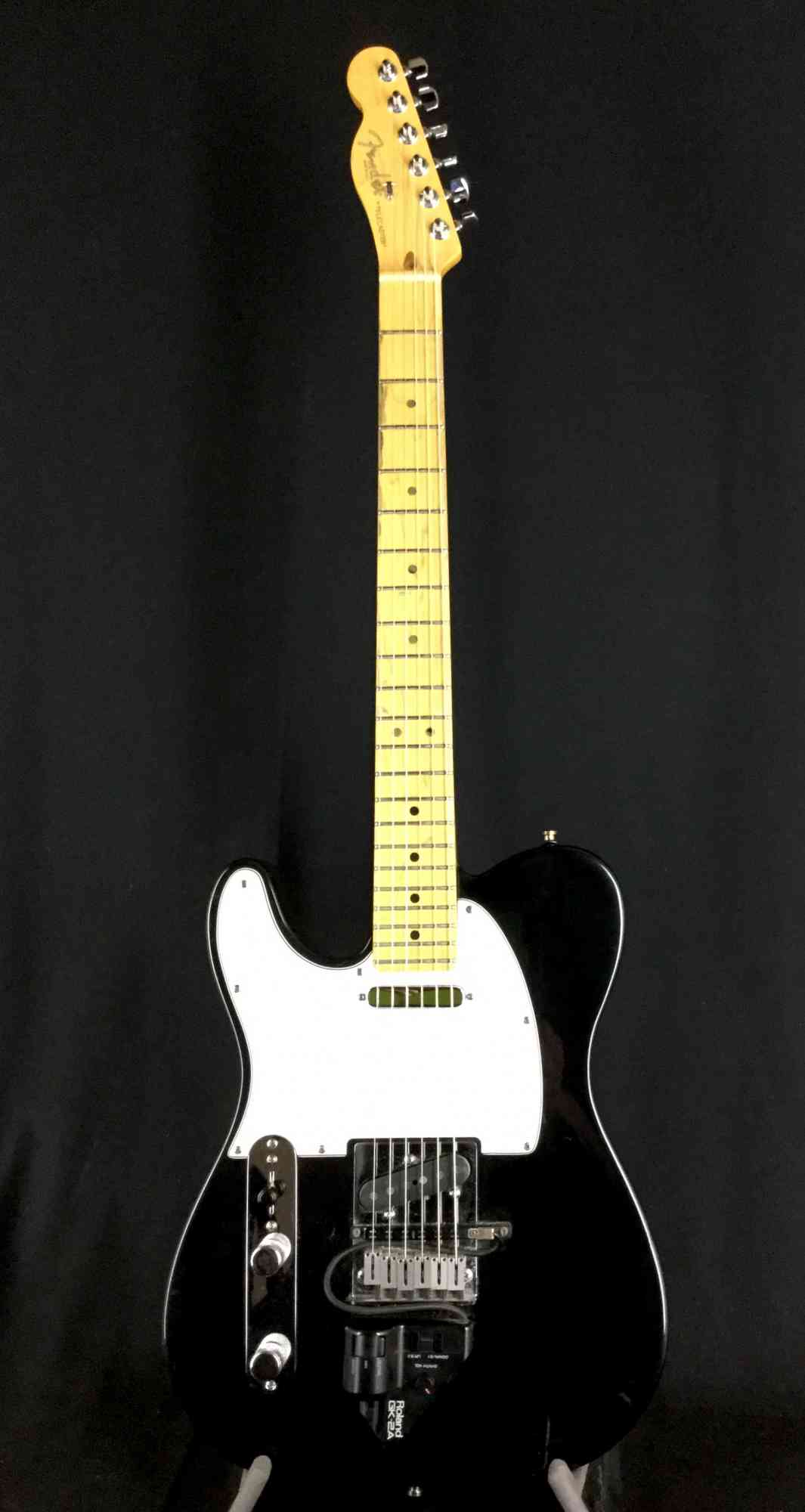 Front view of Fender Lefty Telecaster 1995 Black
