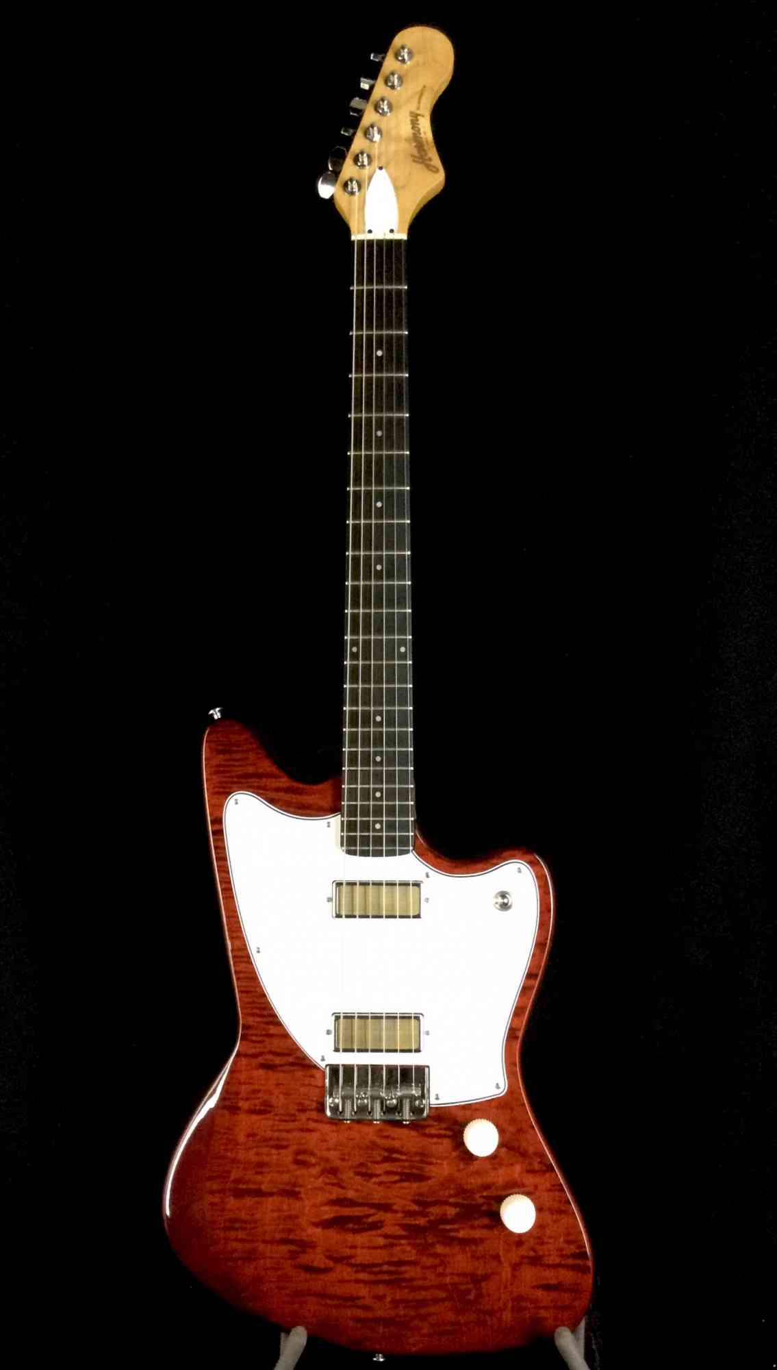 Harmony Silhouette 2020 Transparent Red over Flame Maple Top. Click to enlarge