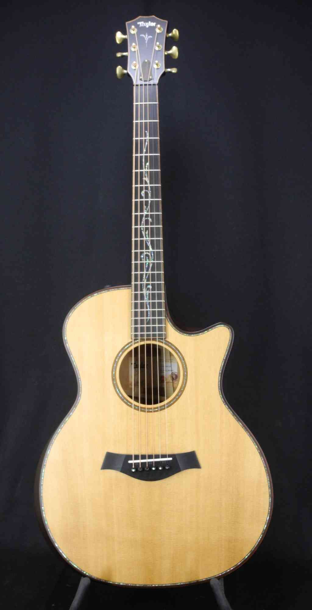 Front view of Taylor K14ce Builders Edition  Natural - Koa