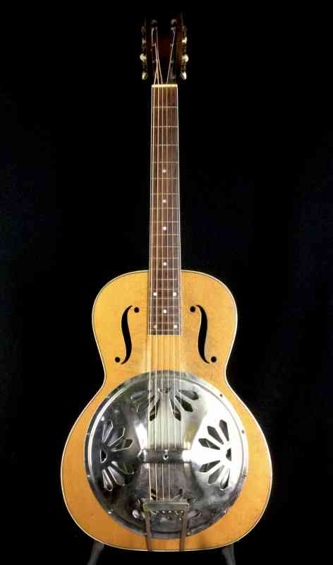 Photo of Regal/Dobro Round Neck Model 45 1930's Natural Top, Sunburst Neck, Back & Sides