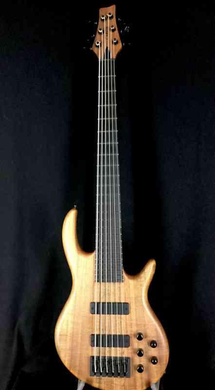 Photo of Carvin Custom Icon 6 String Koa Bass  Natural