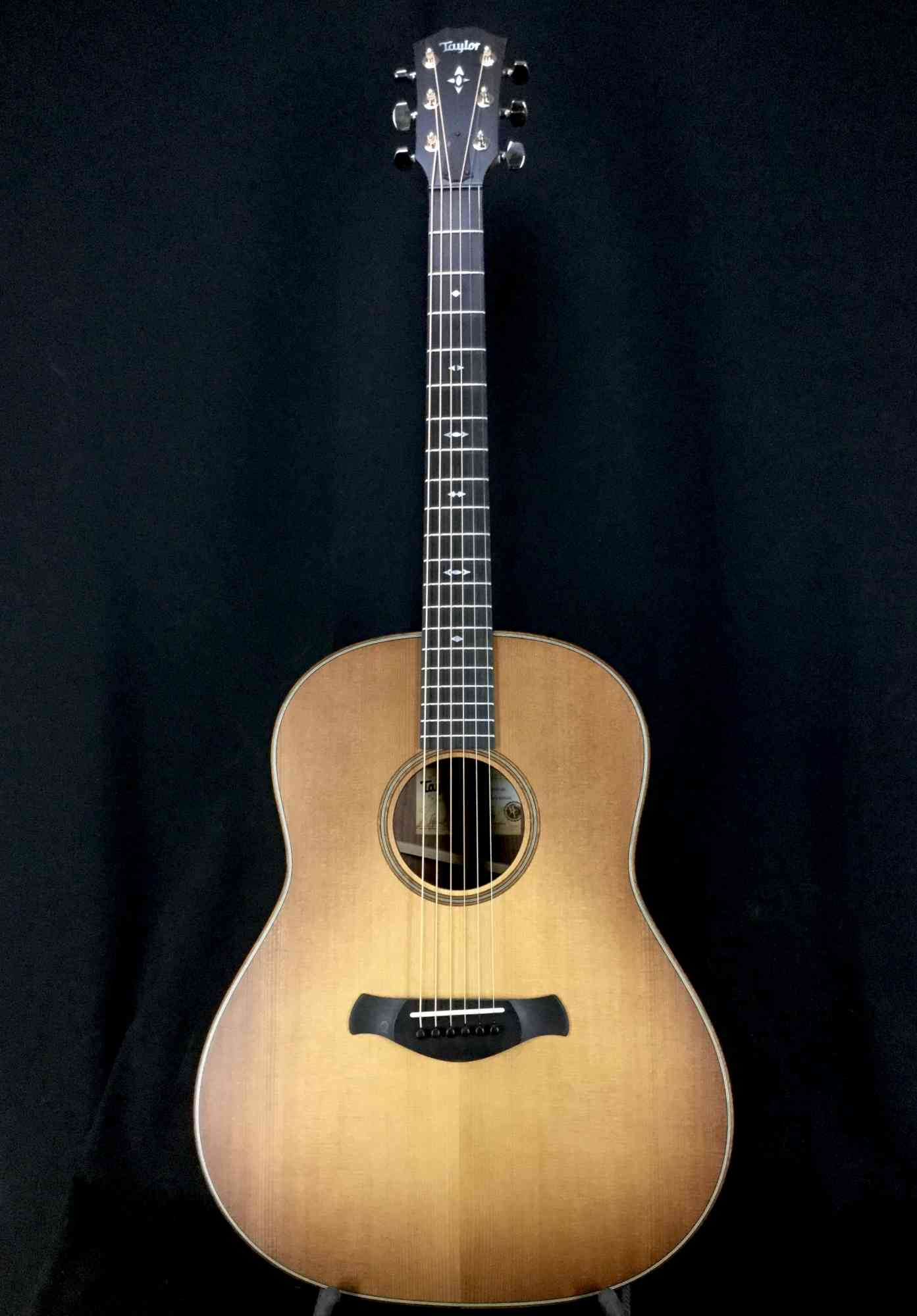 Front view of Taylor 717 Builders Edition 2019 Wild Honey Burst