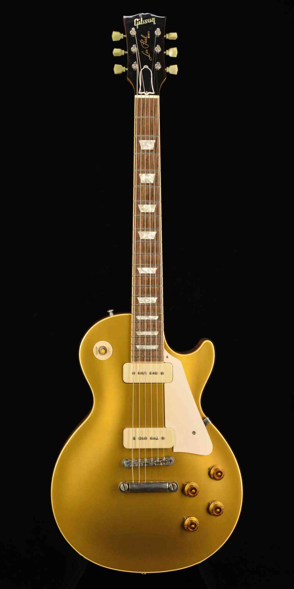 Front view of Gibson Les Paul R6 1997 Gold Top