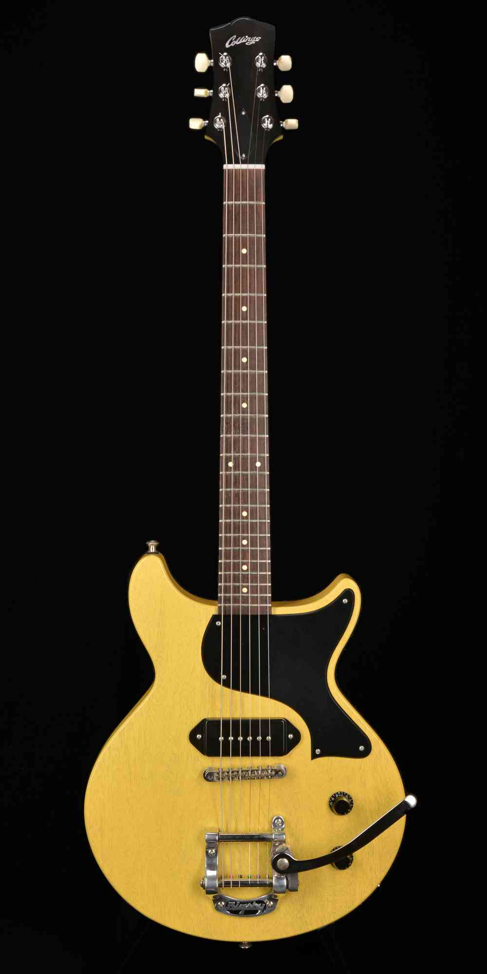 Front view of Collings 290 DC S 2011 TV Yellow