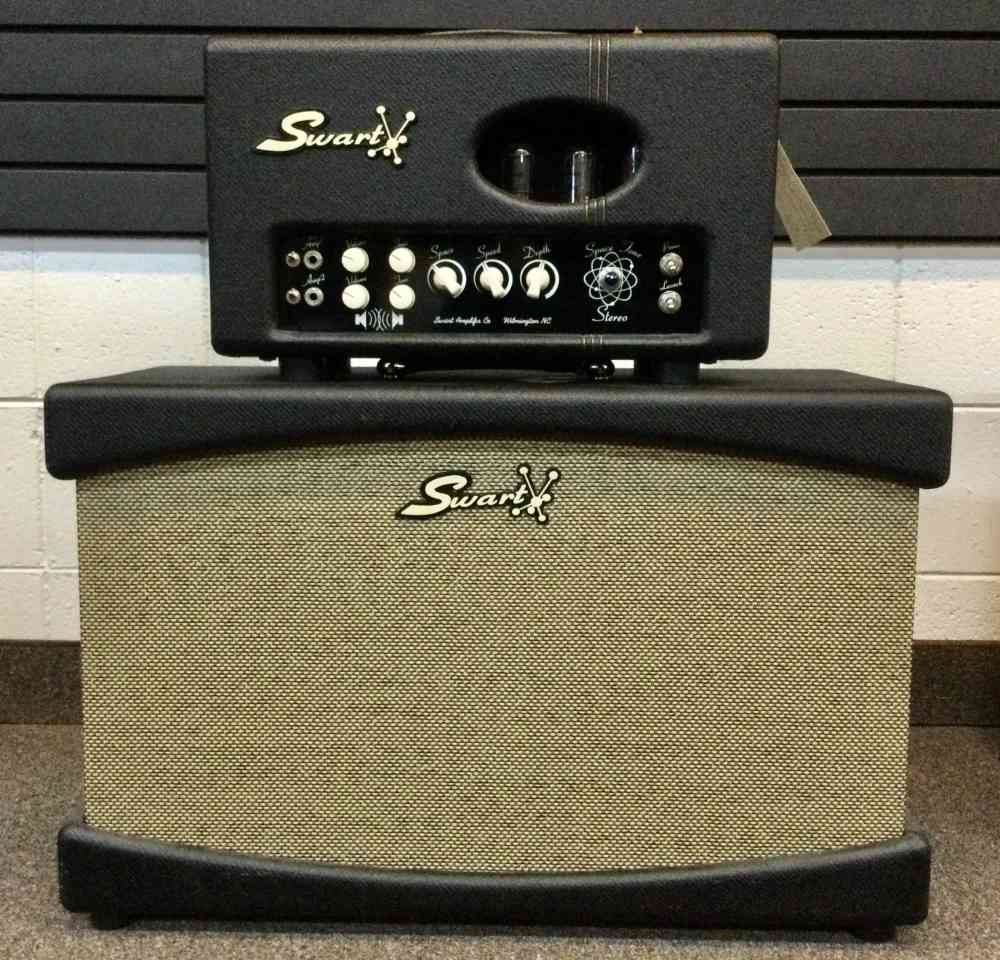Swart ST Stereo head and 2x12 cab 2014 black Tweed. Click to enlarge