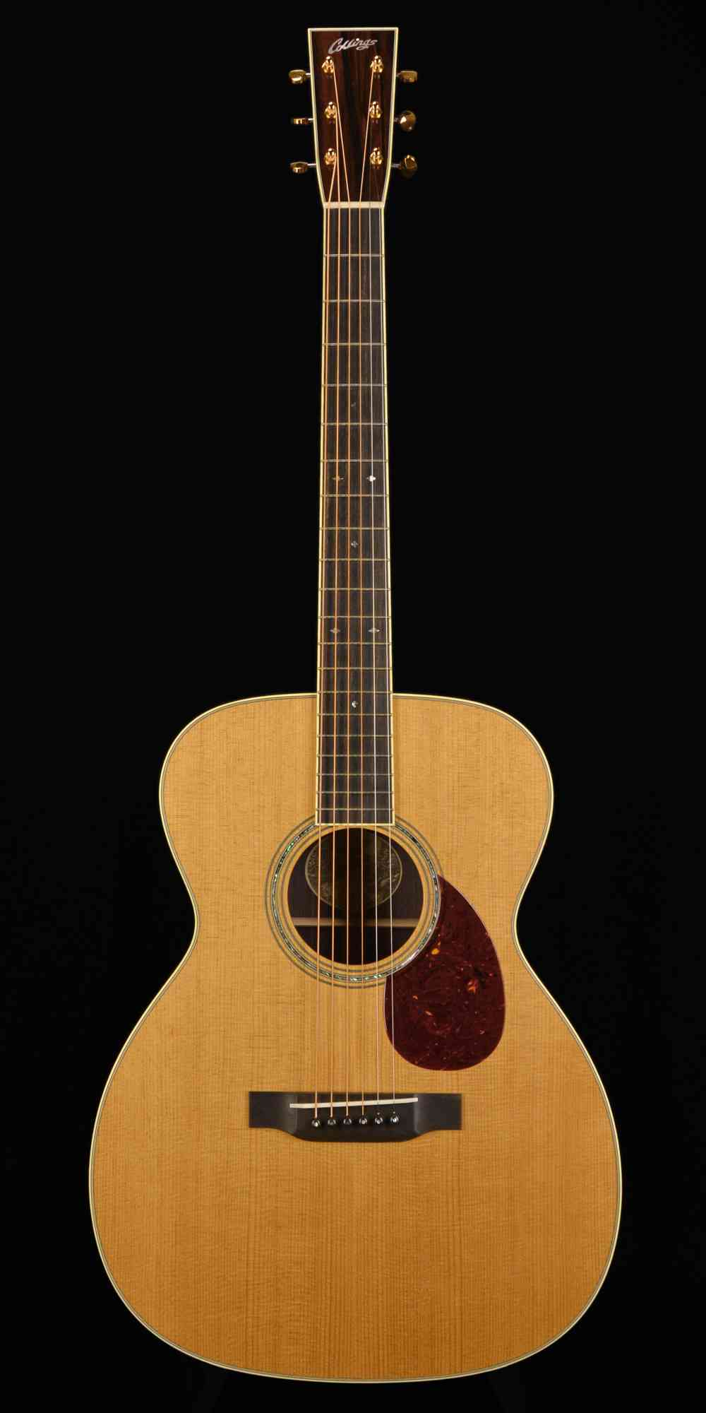Front view of Collings OM3  Natural