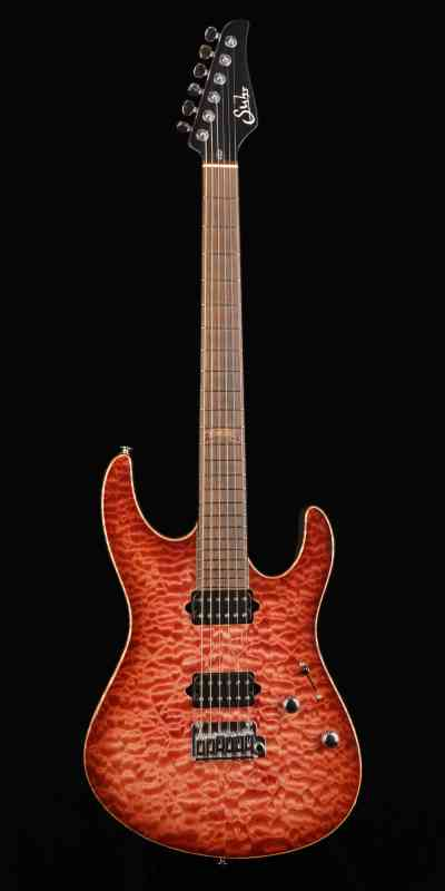 Photo of Suhr Modern Set-Neck 2010 Trand Wine Red Burst