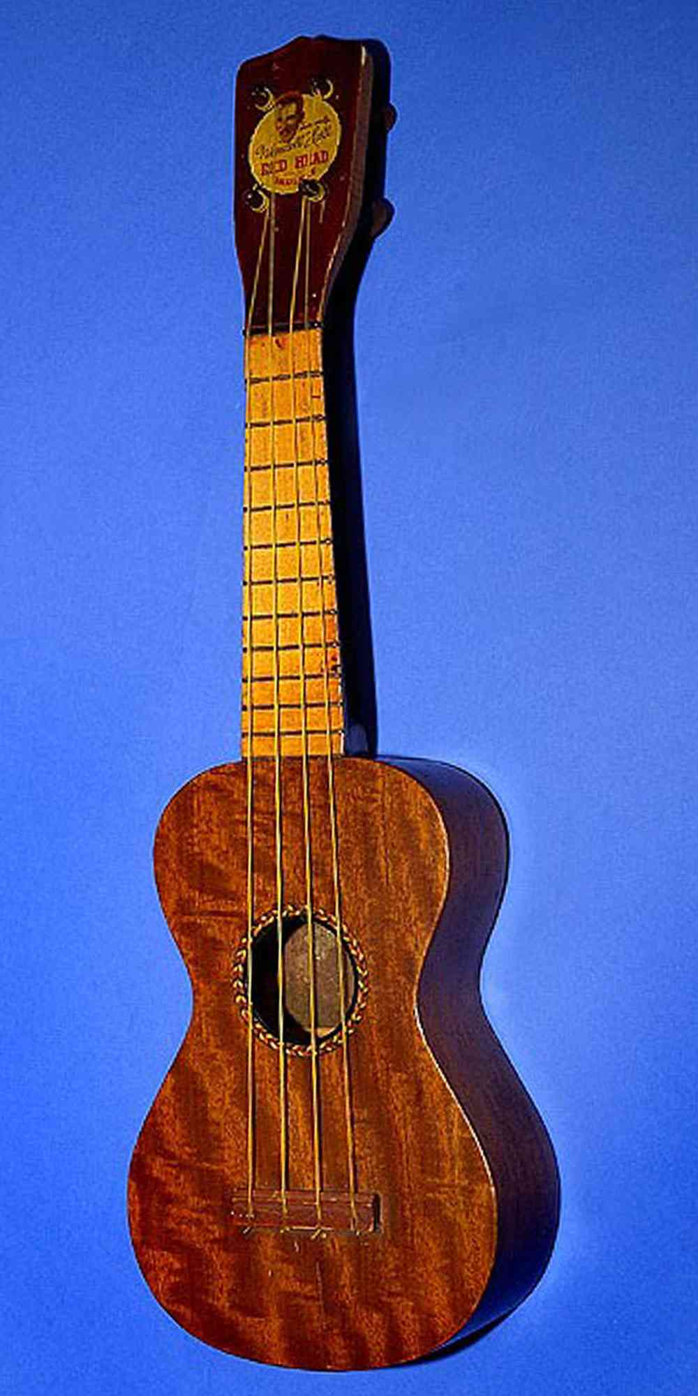 Wendall Hall Red Head Ukulele. Click to enlarge