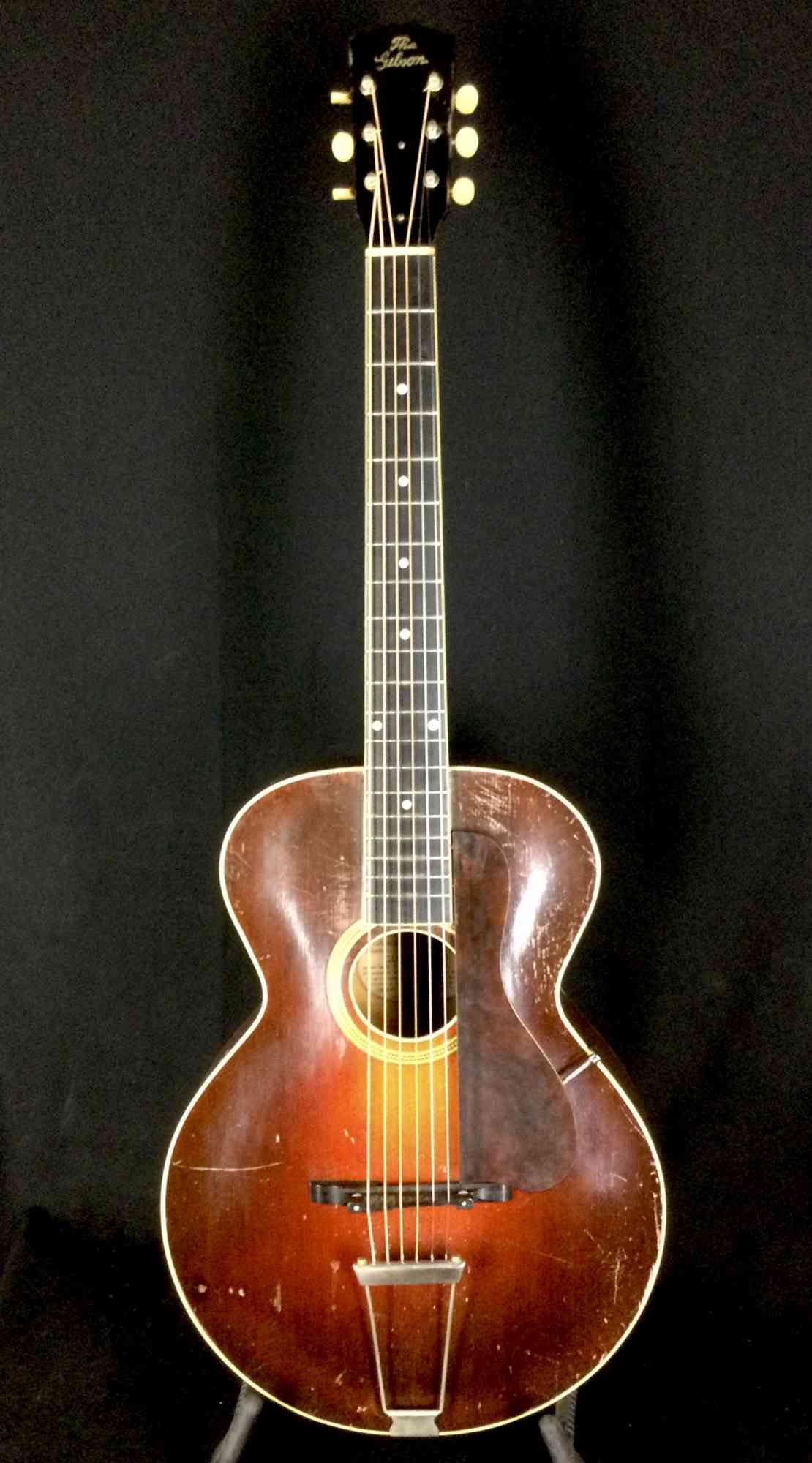 Gibson L-3 1924-26 Dark Red Sunburst. Click to enlarge