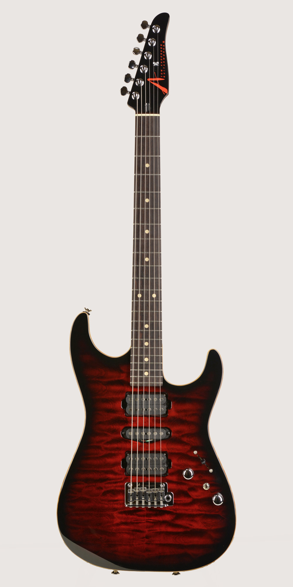 Photo of Tom Anderson Drop Top 2017 Cajun Red-to-Black Burst